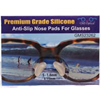 10 Pair Clear -1.8mm x 13mm Non-Slip Nose Pads for EyeGlasses by GMS Optical - Premium Grade Silicone