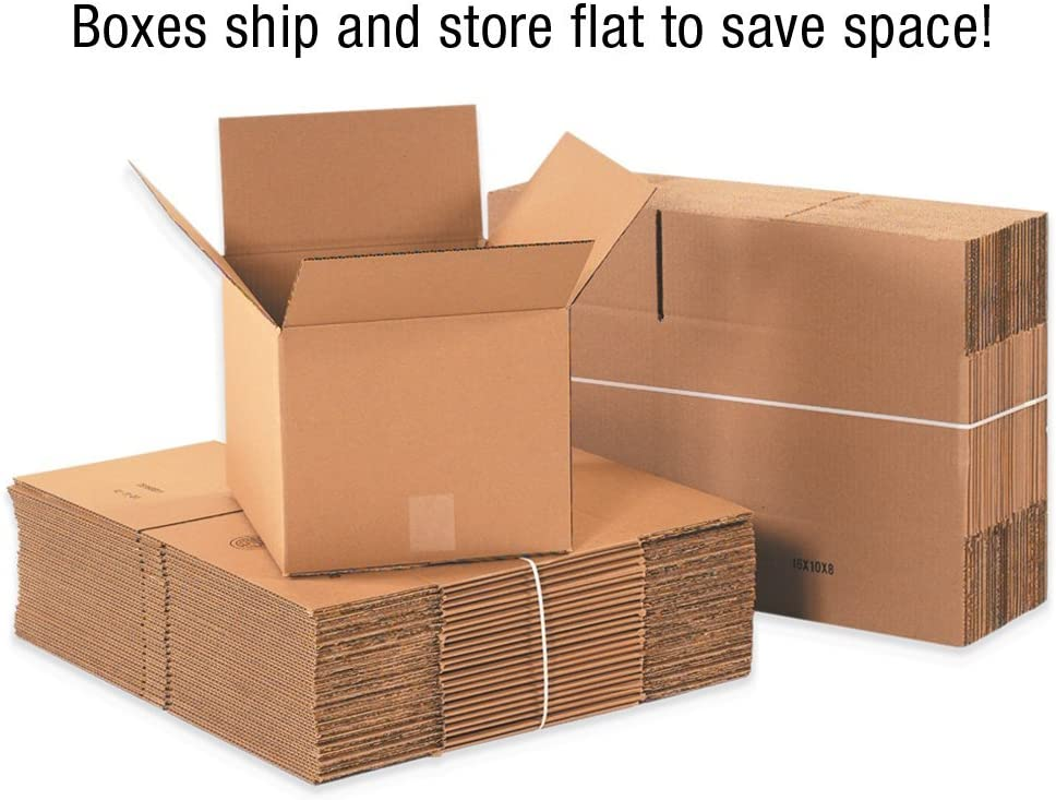 Packing and Moving 221412 Corrugated Cardboard Box 22 L x 14 W x 12 H for Shipping Pack of 20 New Version Kraft