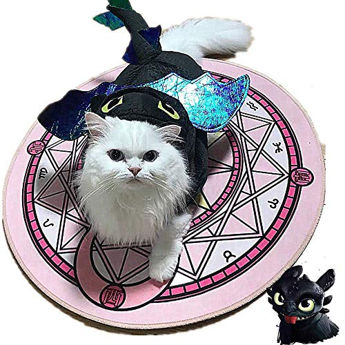 LafaVida How to Train Dragon Cosplay Clothes Costumes Hoodie Jacket for Dog Cat Puppy Pet Night Fury Toothless Cute Wings Tails -