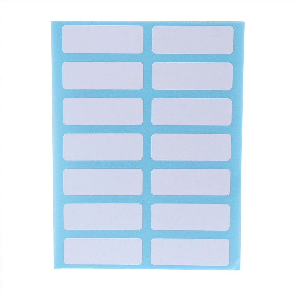 Xuniu 12 Sheet Self Adhesive Sticky White Label Blank Stickers Note Tags Crafts