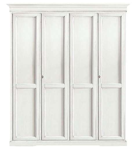 L\'Aquila Design Arredamenti CLASSICO armadio Shabby Chic bianco 4 ...
