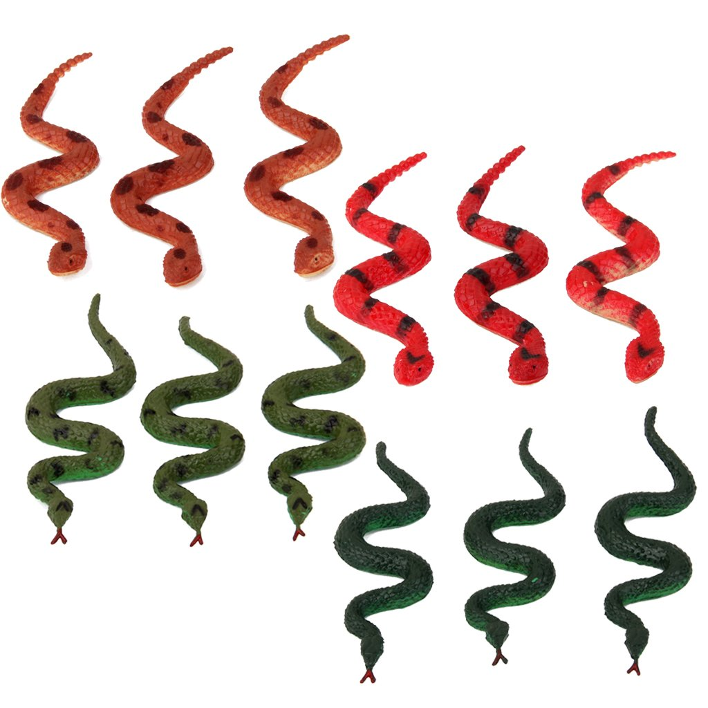 12pcs Serpientes Falsas Juego Juguete Truco Pretented Generico JPA15016083