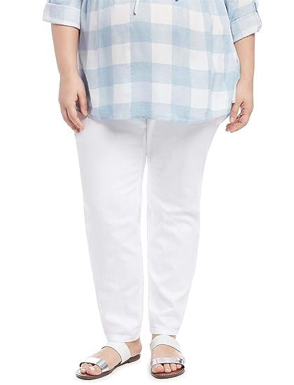c695f5b8d98dd Motherhood Plus Size Secret Fit Belly Skinny Leg Maternity Jeans White at  Amazon Women s Clothing store