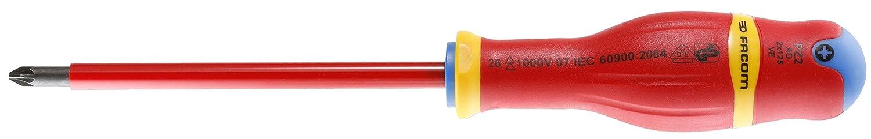 Facom SC.AD2x125VE - Destornillador Pozidriv (tamañ o: 2 x 125 mm), color negro