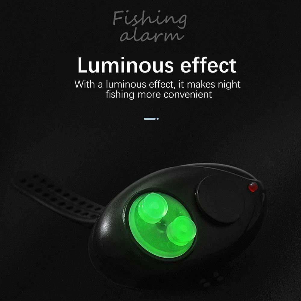Happon Fishing Bite Alarm Electronic Fishing Alarm Indicator with LED Lights Sound Alert for Fish Bite Alarms for Fishing Pole Rods Line Electronic Fishing Bait Alarm Wireless 3PACK