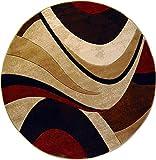 """Home Dynamix HD5382-539 Tribeca Home Decor Round Area Rug, 5'2"""""""