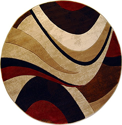 Home dynamix hd5382 539 tribeca home decor round area rug for Modern round area rugs