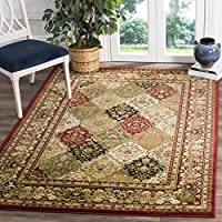 Safavieh Lyndhurst Collection LNH221B Multi and Red Square Area Rug, 8 feet Square (8 Square)
