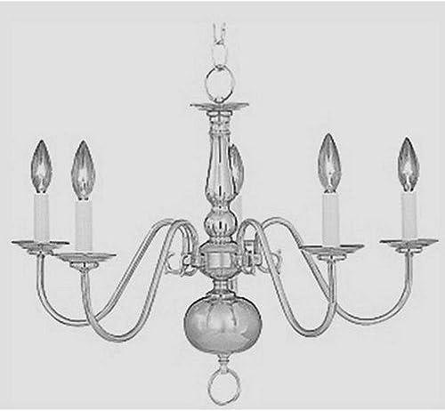 Maxim Lighting 7103SN Builder Basics – Five Light Chandelier, Satin Nickel Finish