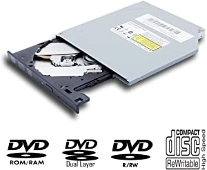 New Internal Super Multi 8X DVD+-R DL DVD-RAM Writer for Acer Aspire V3-574G E5-552G ES1-731 731G 533 F15 F5-573G Notebook PC, Dual Layer 24X CD RW Burner, Slim Optical Drive Replacement