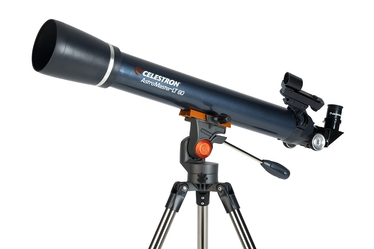 Celestron Astro Master LT 70AZ Refractor No-Tool Setup Refracting Telescope, Blue (21074)