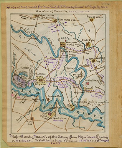 LAMINATED POSTER Map shewing sic march of the U.S. Army from