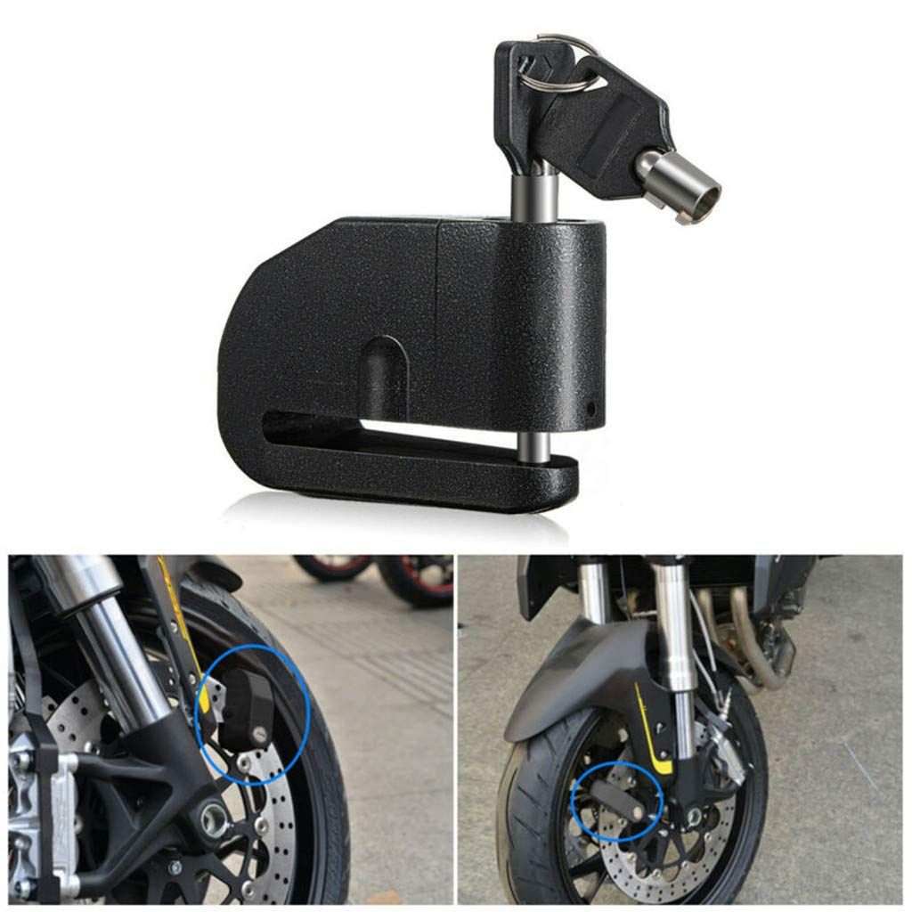 Bikes and Scooters by Gunel Anti Theft Waterproof Brake Disc Wheel Alarm Security Lock 120DB Pin for Motorcycles Alarm Disc Lock