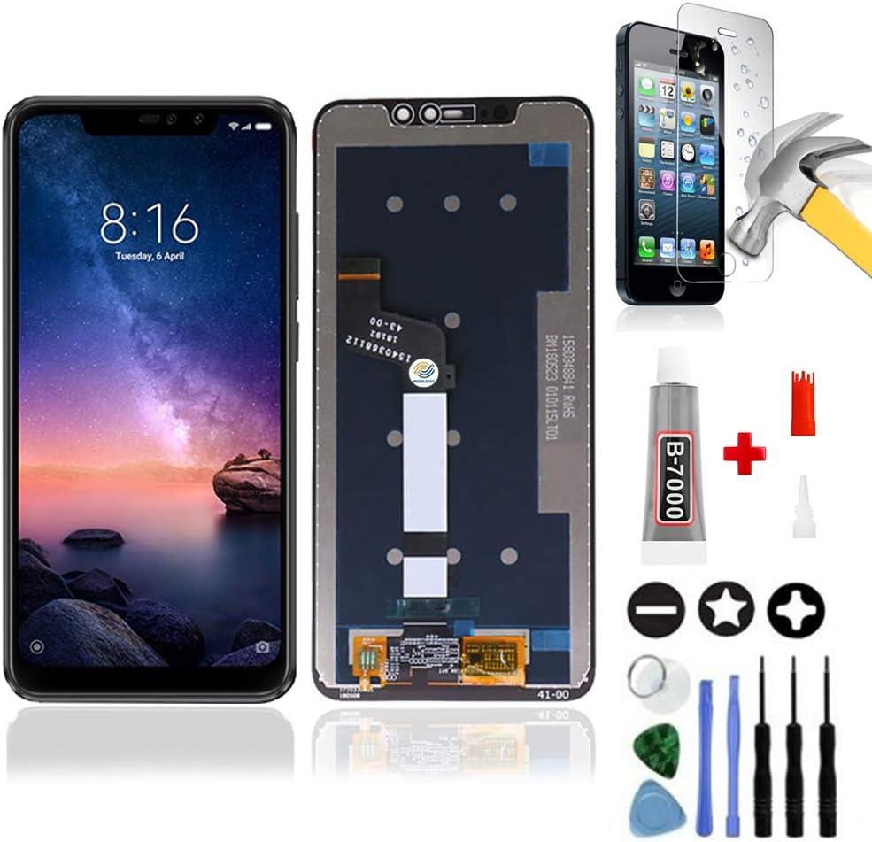 Mobilevie - Pantalla táctil + pantalla LCD original para Xiaomi Redmi Note 6 Pro, color negro + herramientas