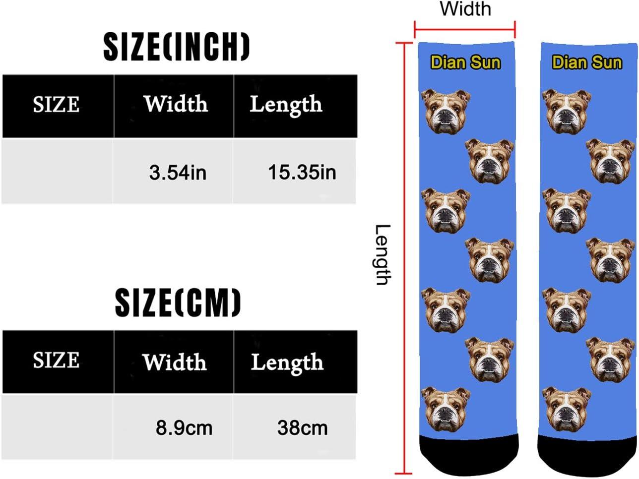 Aolun Calcetines Personalizados Foto,Personalizable Calcetines,Ponga la Foto de la Cara del Perro el Gato y Otras Mascotas en Calcetines