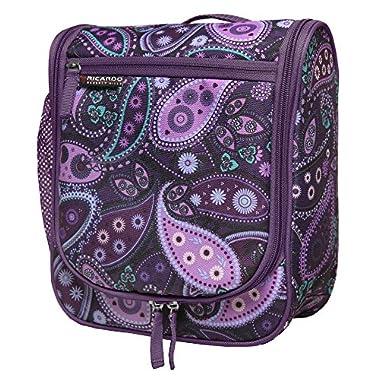 Ricardo Beverly Hills Essentials Travel Organizer, Purple Paisley, One Size