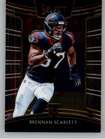 2018 Select Football #75 Brennan Scarlett Houston Texans Concourse RC Rookie Card Official NFL Trading Card From Panini