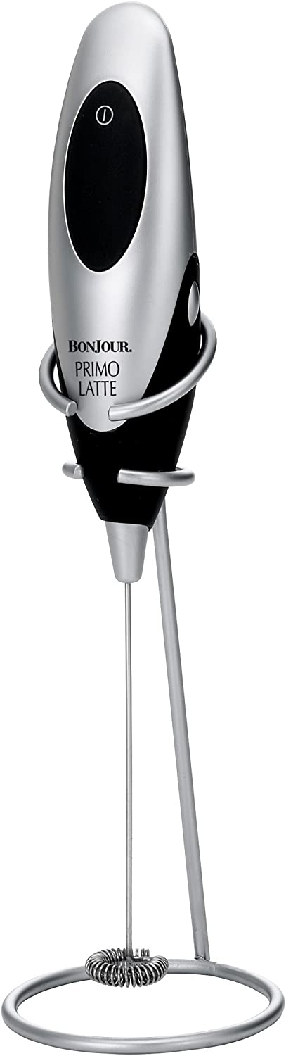 Bonjour Coffee Hand Held Battery Operated Mini Beverage Whisk Black Milk Frother Talkingbread Co Il