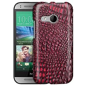 HTC One Remix Case, Slim Fit Snap On Cover by Trek Alligator Dark Red Skin Case