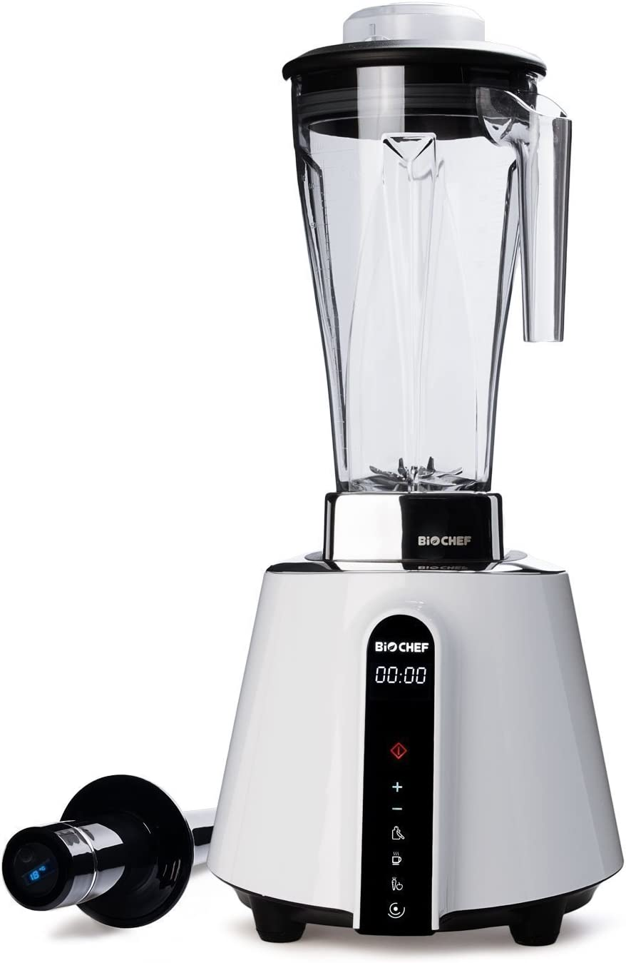 BioChef Living Food Blender - 1680 Watt Motor, 2L BPA-Free Jug with 3 preset Programs Plus Pulse Function - 10 Year Warranty (White)
