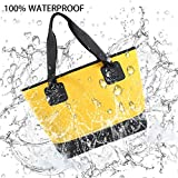 #10: UrbanMover Waterproof Tote Dry Bag Top-Handle Bags Shoulder Bag Pack PVC With Zipper and Pocket For Women For Girls Bulk Large Swimming Beach Gym Boating Diving Surfing Bathing Travel