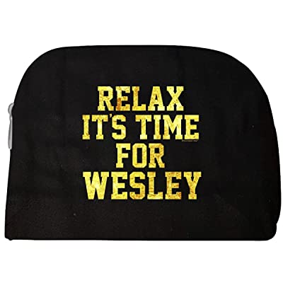 Relax Its Time For Wesley. Fun Gift Idea - Cosmetic Case