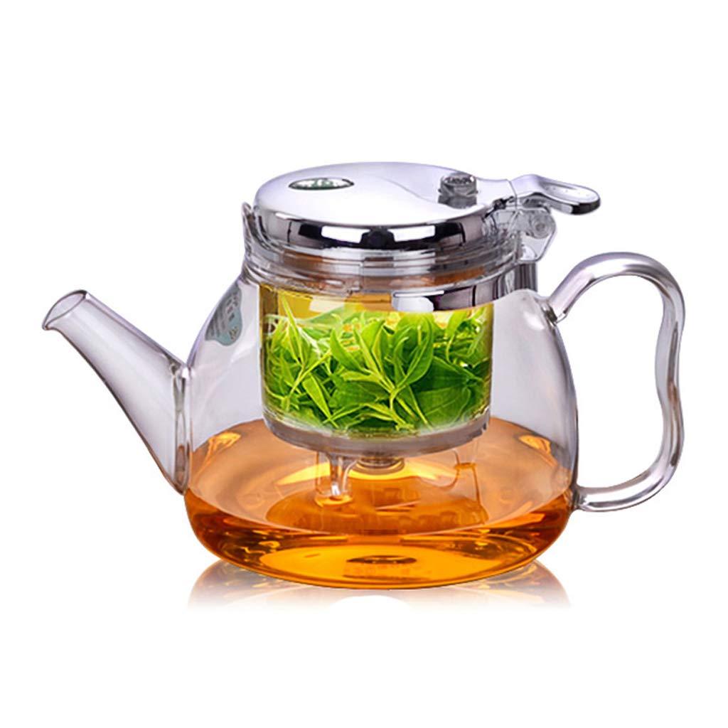 Tetera LITING_Wang Tazas Elegantes Filtro de Lavado a Prueba de Calor Completo Inicio Vidrio Set Juego de té (Capacidad : 490ML)