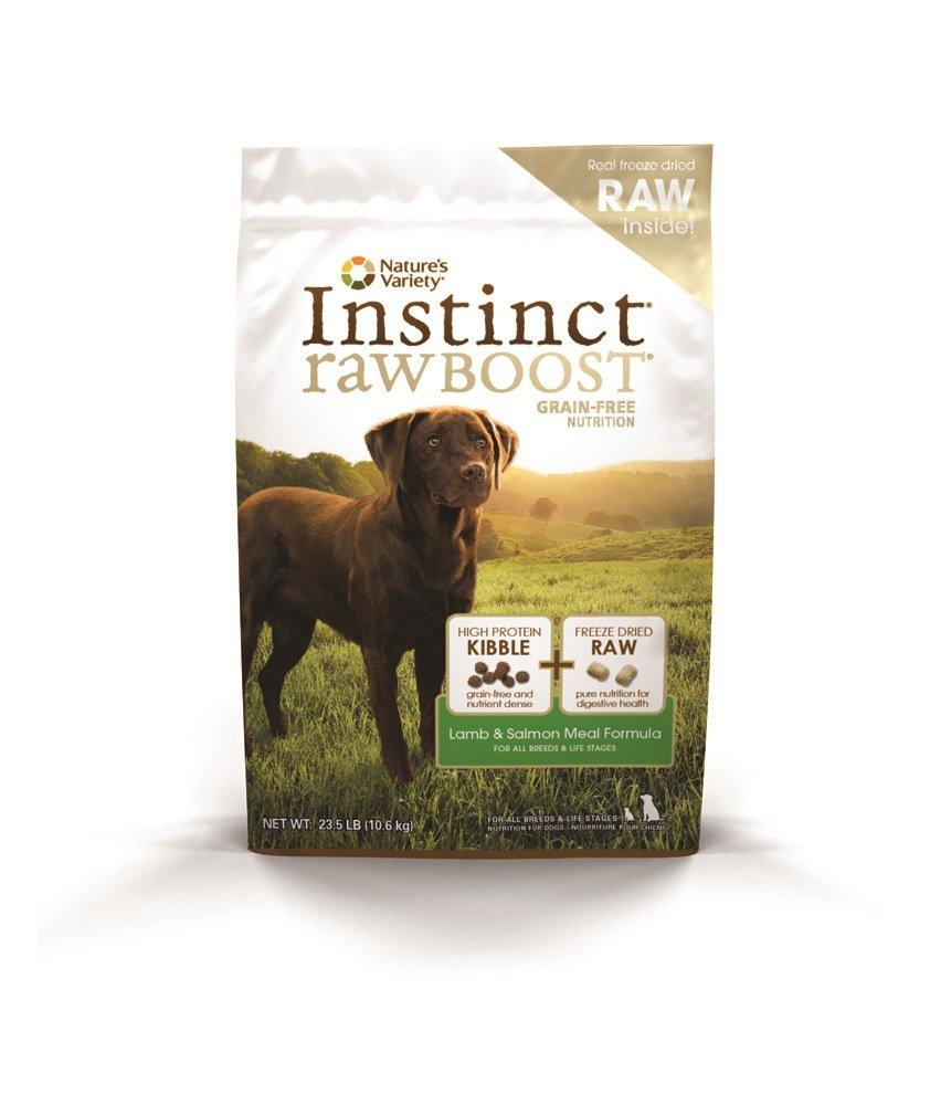 Nature's Variety Instinct Raw Boost Grain Free Lamb & Salmon Meal Formula Dry Dog Food, 23.5 lb. Bag