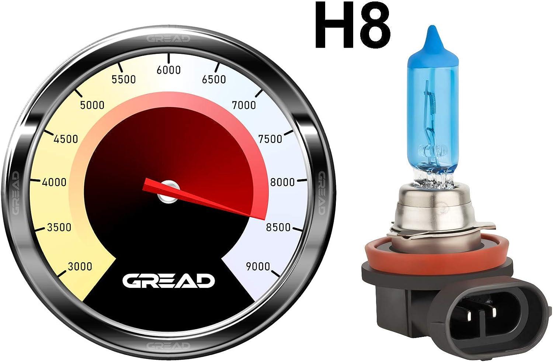100/% precisione e lunga durata. 8500/K 35/W H8/Box lampade alogene in effetto xenon von Gread Lights Super White E-mark