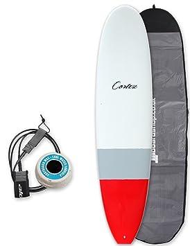Cortez Funboard tabla de surf paquete 7 ft 4 – gris/rojo Dip