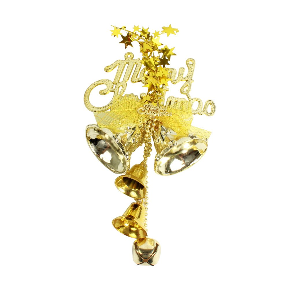 Nadition Christmas Decorations Clearance  Christmas Tree Decoration Chic Bow Bells Ornament Home Decor Pendant