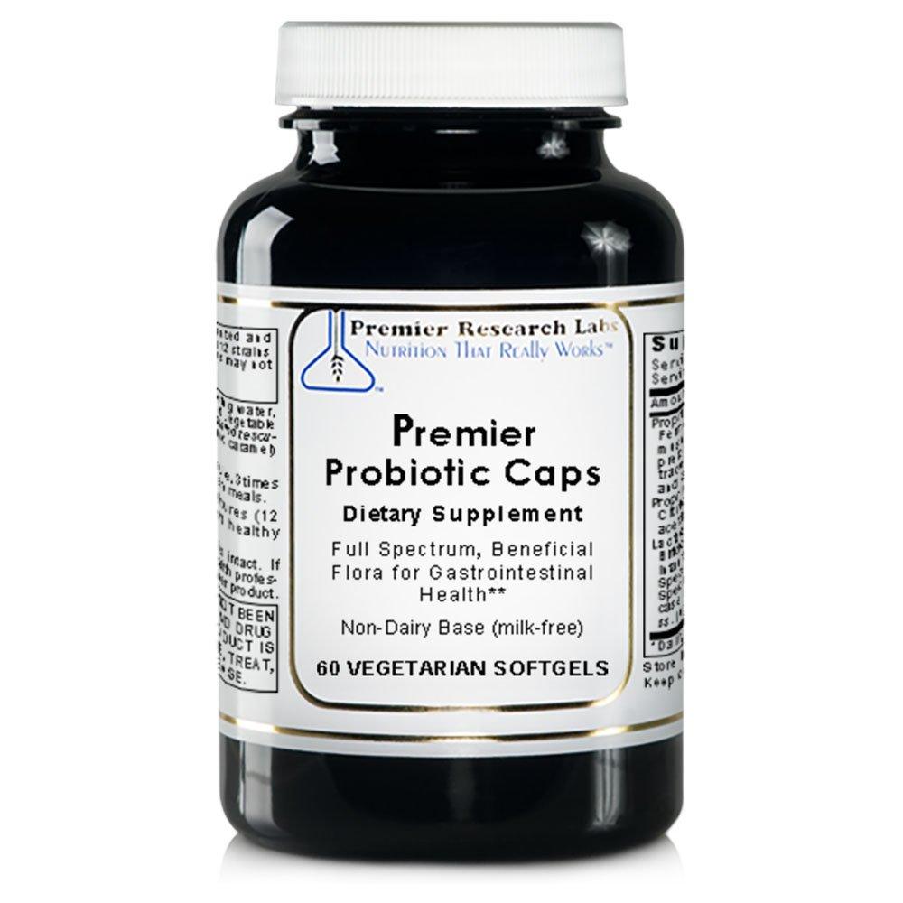 Premier Probiotic Caps, 60 Softgels - Full Spectrum, Beneficial Flora for Gastrointestinal; Health Non-Dairy Base (milk-free)