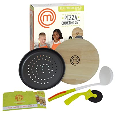 MasterChef Junior Pizza Cooking Set - 5 Pc Kit Includes Real Cookware for Kids and Recipes: Toys & Games