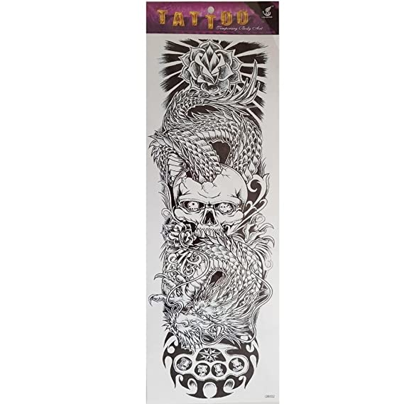 Just Fox – temporäres Tattoo Calavera Rose Dragón tatuaje diseño ...