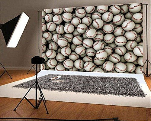 Laeacco 7x5ft Vinyl Photography Backdrop Baseball Children Adults Sports Theme 2.2(w) x1.5(h) m Photo Background Studio Props]()