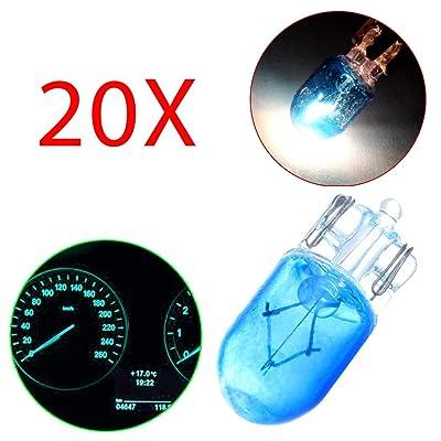 cciyu T10 Halogen Light 194 168 Dash Light Instrument Panel Gauge Cluster Halogen Bulb,10 Pack: Automotive