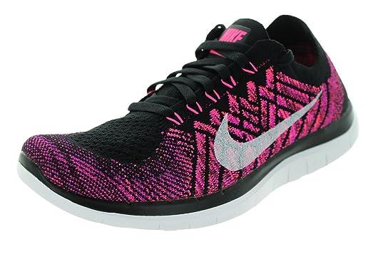 4d8348172 ... shopping nike free 4.0 flyknit womens running shoes 10 black pink pow  fuchsia 169b8 d64c0