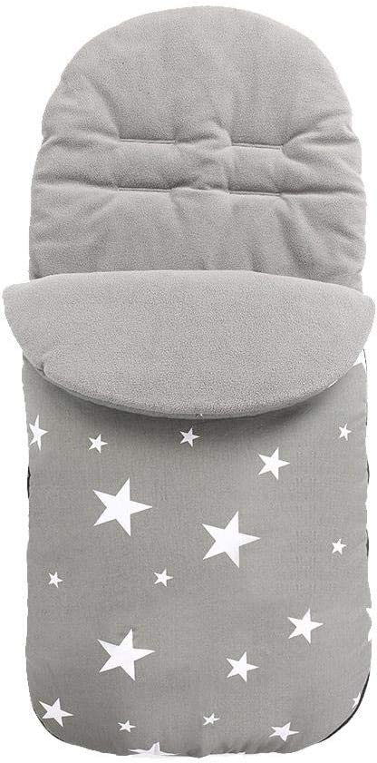 Saco de dormir universal para cochecito de beb/é Invierno a prueba de viento Impermeable Cubierta de pie caliente Saco de saco de lana forrado de vell/ón grueso al aire libre