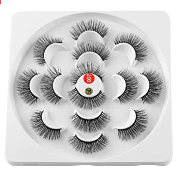 47f5a8bd1e5 7 Pairs False Eyelashes 6D Mink Hair 25mm Lashes Thick Wispy Fluffy  Handmade Long Eye Makeup Tools (5D-007): Amazon.ca: Beauty