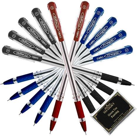 5x Cello Quick Retractable BLUE Ball Pen smooth writing school home office useI