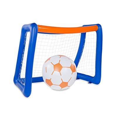 "HearthSong Giant Inflatable Soccer, Portable, 80"" L x 48"" W x 65"" H: Toys & Games"
