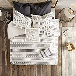 INK+IVY 100% Cotton Duvet Mid Century Modern Design All Season Comforter Cover Bedding Set, Matching Shams, Full/Queen…
