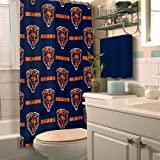 The Northwest Company Chicago Bears Fabric Shower Curtain