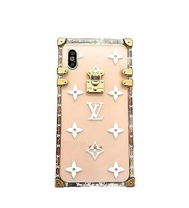 Amazon.com: Elegante funda transparente de lujo para iPhone ...