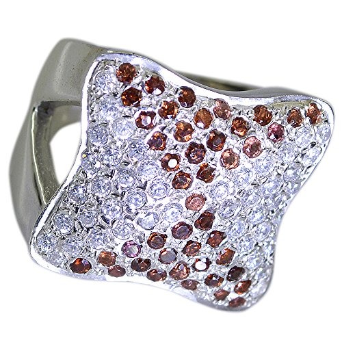 - Genuine Garnet Silver Ring For Wedding Cluster Setting Round Gemstone Jewelry In Size 5,6,7,8,9,10,11,12