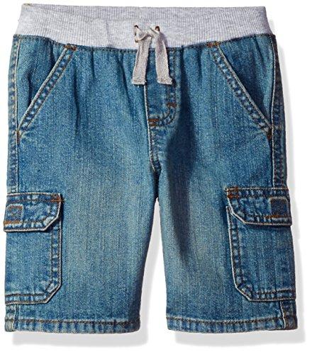 Knit Boys Shorts (Wrangler Authentics Baby Toddler Boys' Knit Waist Short, Indigo Light, 2T)