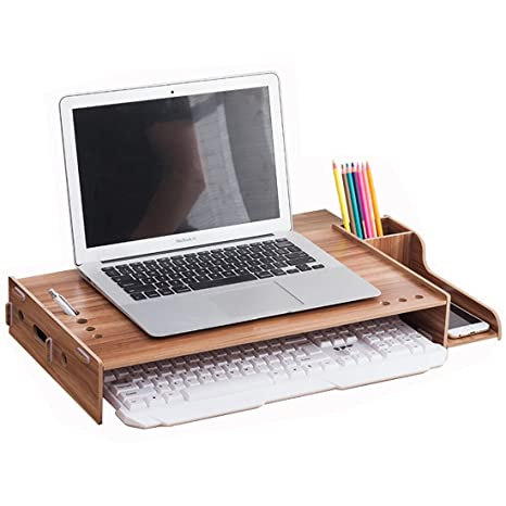 amazon com assemblable wooden laptop notebook computer monitor rh amazon com