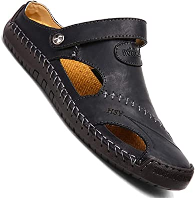GSNOW Mens Casual Closed Toe Leather