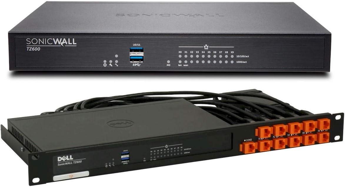 SonicWall TZ600 Firewall Appliance Bundle with Rack Mount Kit