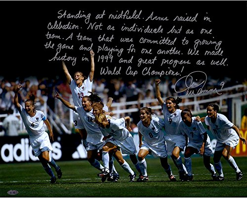 """Mia Hamm Team USA Autographed 16"""" x 20"""" World Cup Photograph with """"In Their Own Words"""" Inscription - Steiner Sports - Fanatics Authentic Certified"""